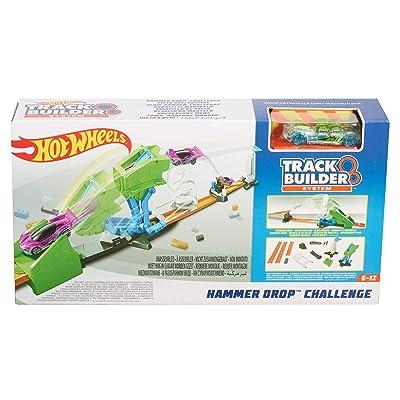 Hot Wheels Track Builder Hammer Drop Challenge: Toys & Games