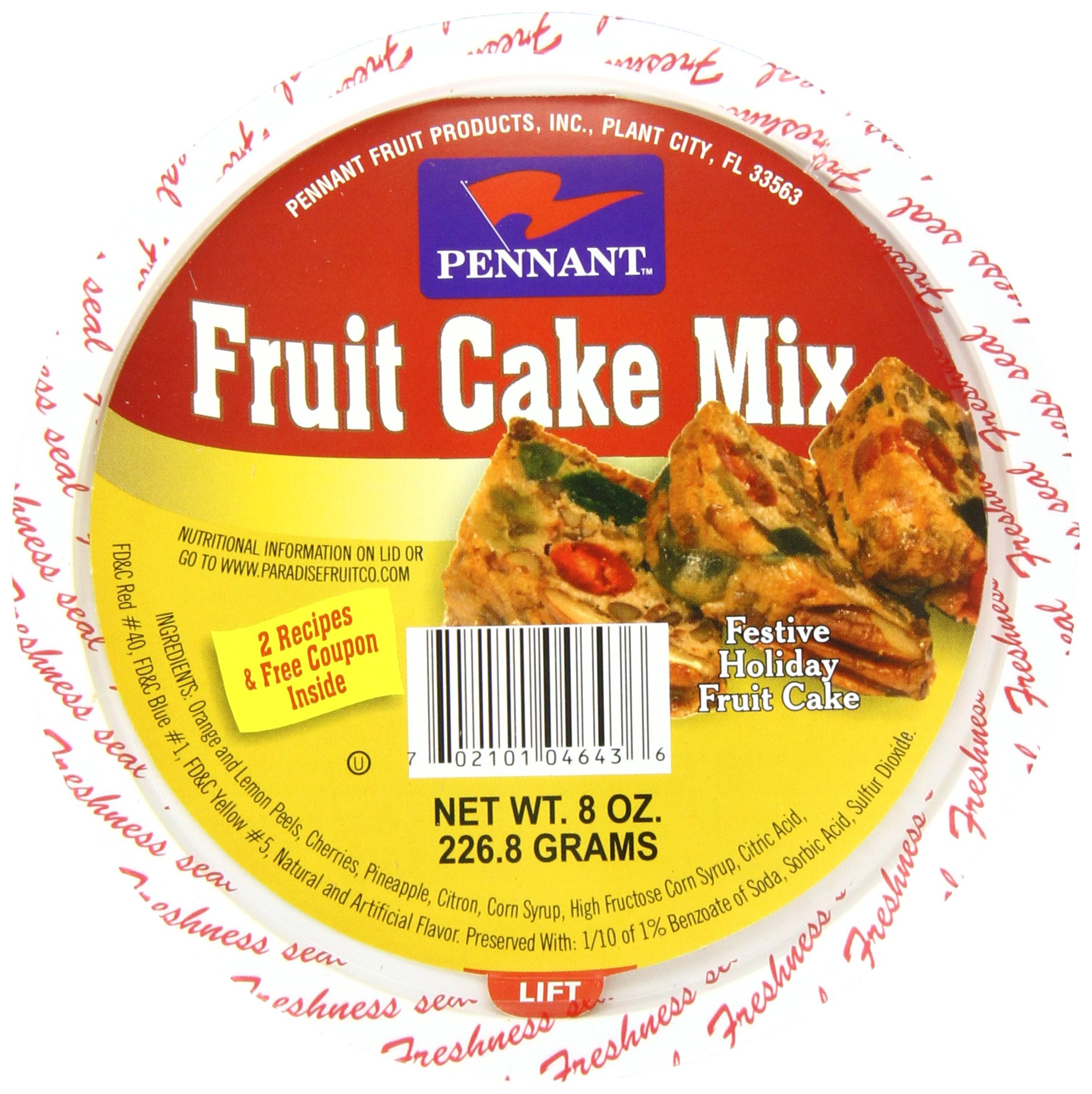 Pennant Fruit Cake Mix, 8 Ounce (Pack of 12)