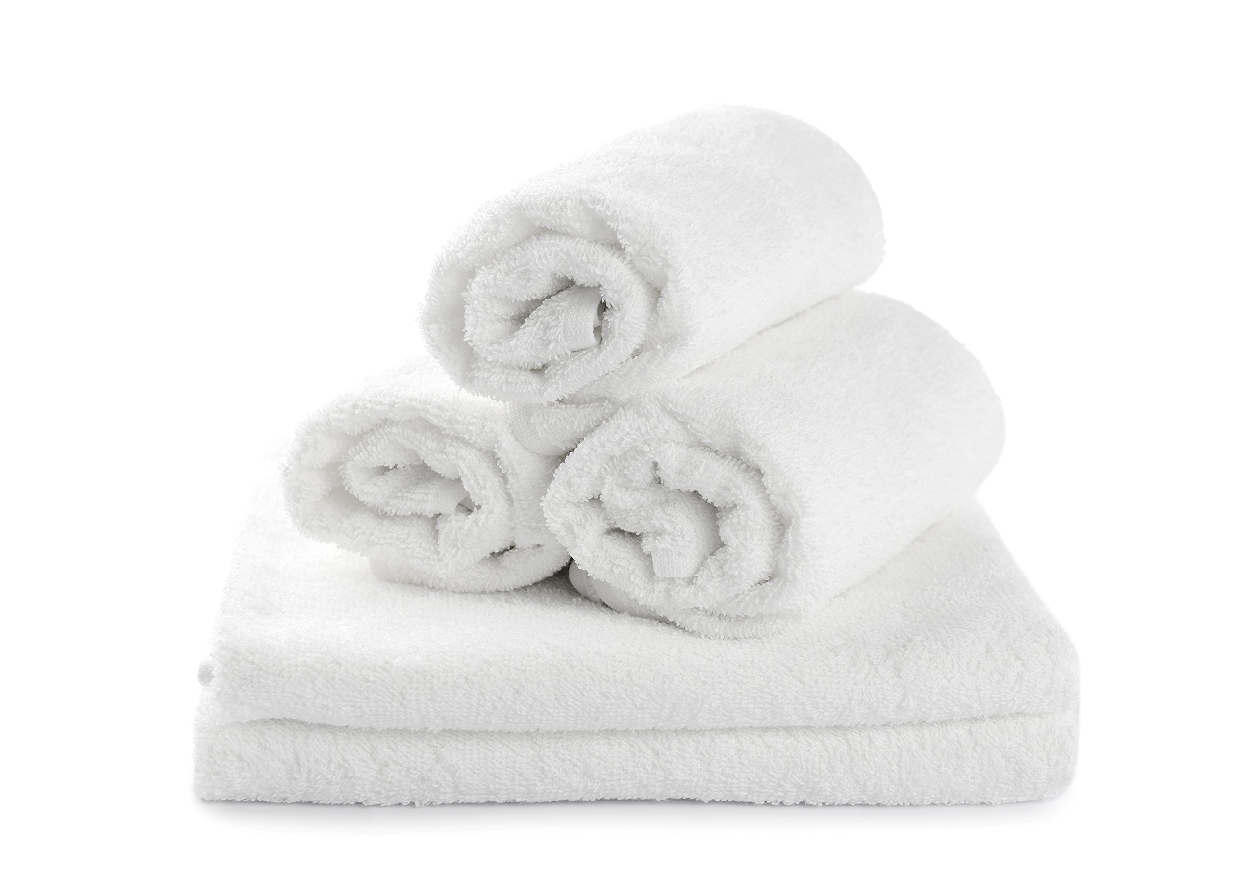 Jmr White Massage Salon 3lbs Hand Towel 16x27 ,12pk