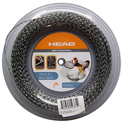 bacc79ac1 Amazon.com   Head RIP Control 16 Tennis Racquet String Reel - Black    Tennis Racket String   Sports   Outdoors