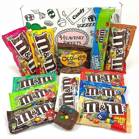 Gran Cesta Americana M&M | Chocolate y Caramelo | Golosinas para Navidad Reyes o para regalo
