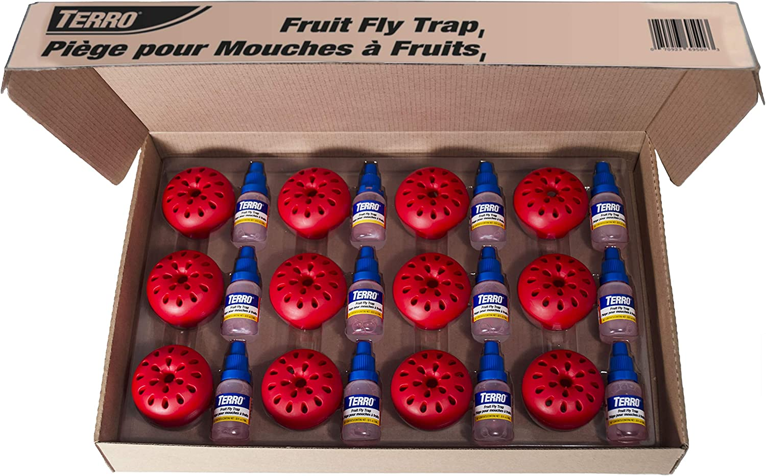 Terro T2512 Fruit Fly Trap-12 Traps, Red