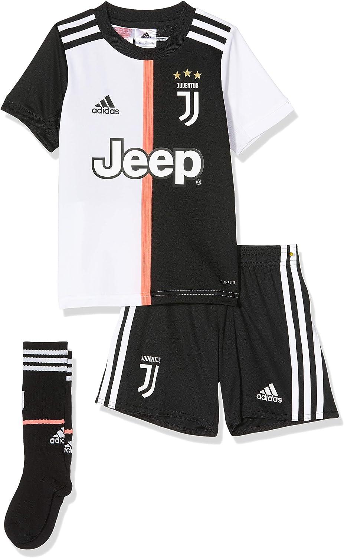 adidas Juventus Littleboys Junior Home Kit 2019-20 (18-24 Months) Black