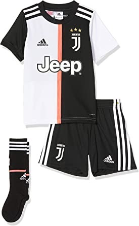 amazon com adidas juventus littleboys junior home kit 2019 20 18 24 months black clothing adidas juventus littleboys junior home kit 2019 20 18 24 months black