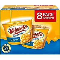 VELVEETA Original Microwavable Shells & Cheese Cups, 8 Count Box   Single Serving Cups with Delicious Velveeta Cheese…