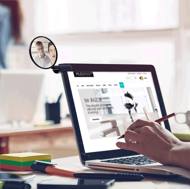 Scrivania Posteriore-View Monitor Peleg Design Clip Su Vetro Specchio Retrovisore Specchio Convesso per La Sicurezza Personale o Sicurezza Armadio