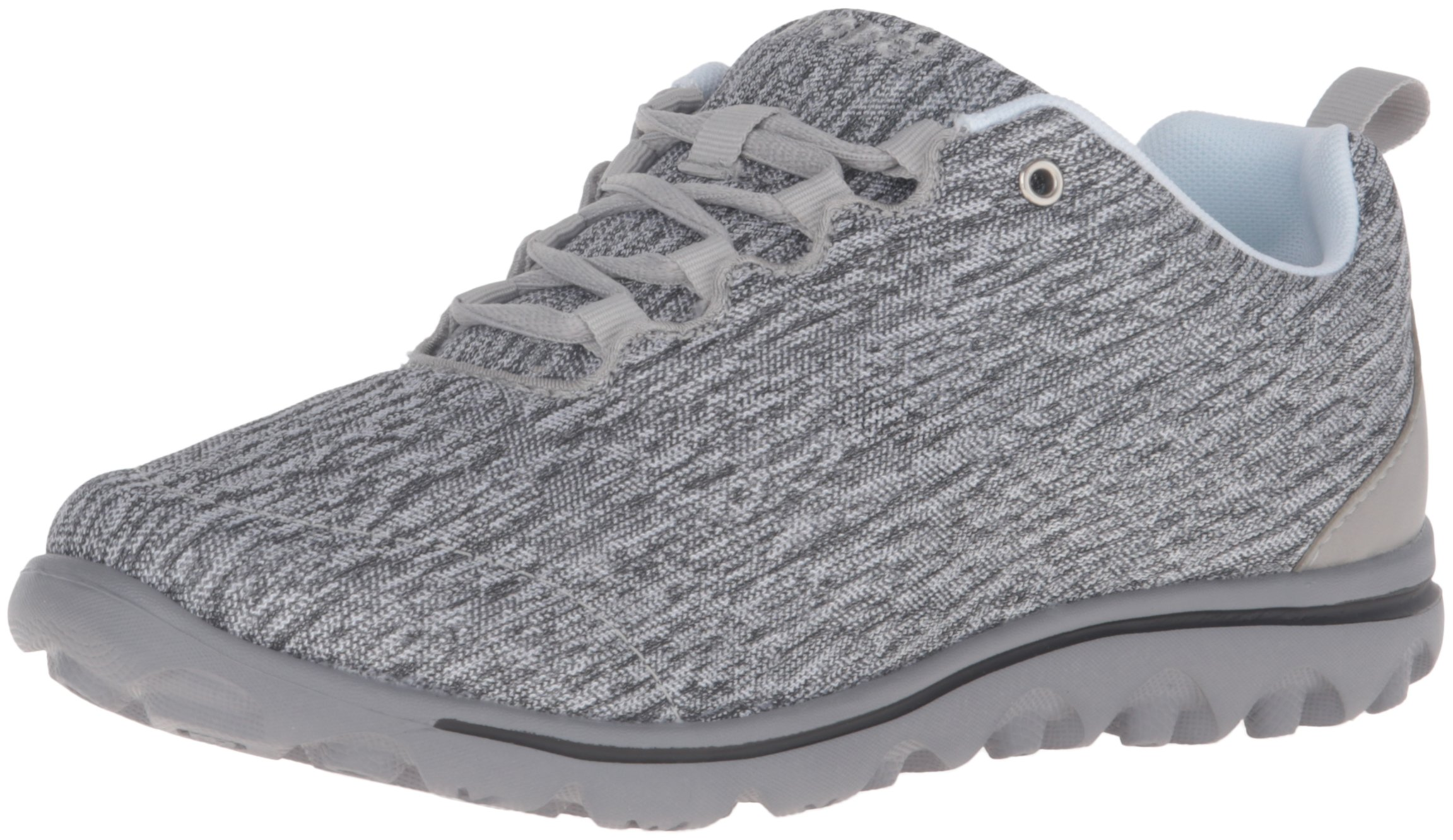 Propet Women's TravelActiv Oxford, Black/White Heather, 8.5 Wide US