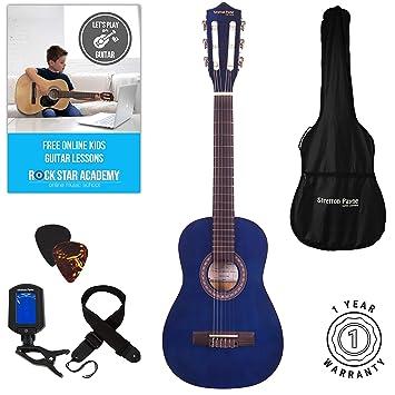 Guitarra clásica para niños, 1/4 de tamaño, 78,7 cm, cuerdas de ...