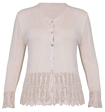 32516b922c9 PurpleHanger Women's Crochet Sweater Cardigan Top Plus Size at ...