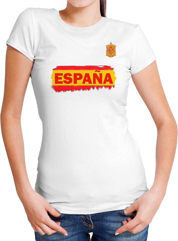 LolaPix Camiseta España Personalizada con tu Nombre y Dorsal | Selección Española | Varios Diseños Tallas | 100% Algodón | Mujer| Blanca: Amazon.es: Hogar