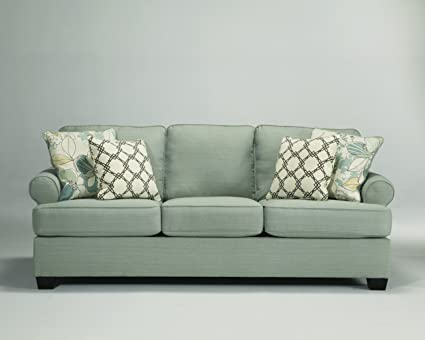 Amazon.com: Signature Design by Ashley Daystar Seafoam Sofa ...