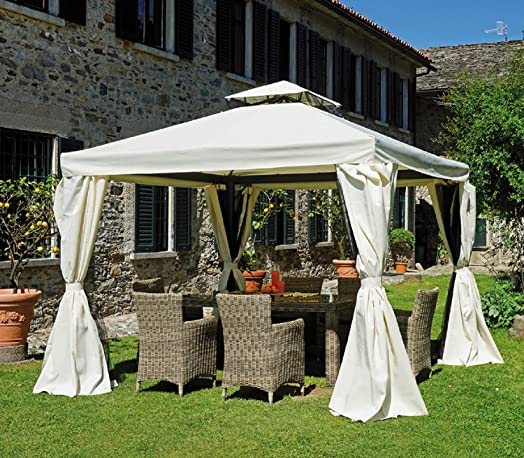 Gazebo Square 3x3 With Side Curtains