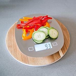 Vitagoods VG97225-0500 Tare Digital Kitchen Scale, Grey