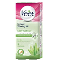 Veet Instant Waxing Kit for Dry Skin, 8 strips