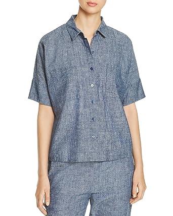 30e0b300f7fef7 Eileen Fisher Collared Chambray Shirt