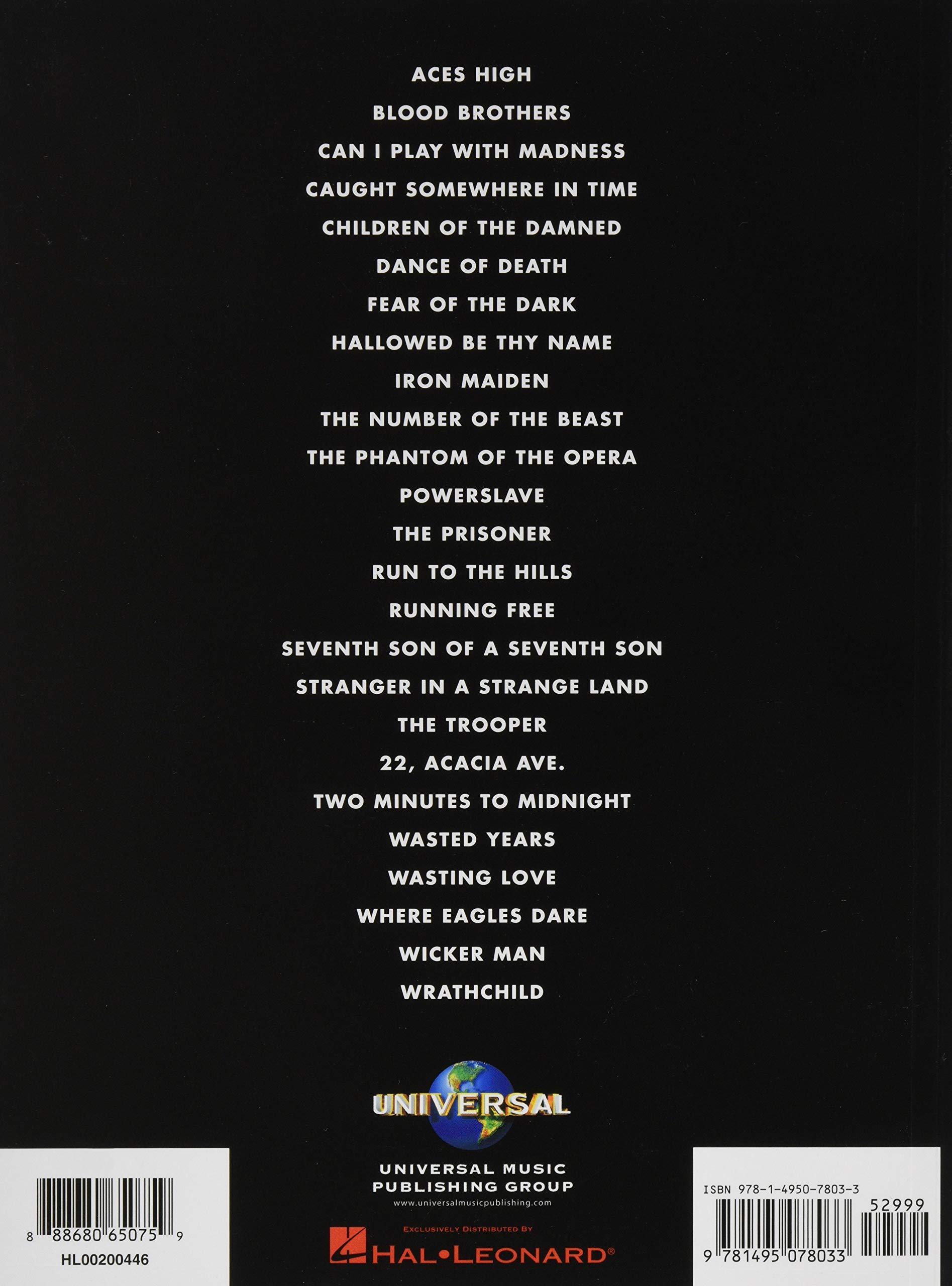 Iron Maiden: Guitar Tab - 25 Metal Masterpieces Guitar Recorded ...