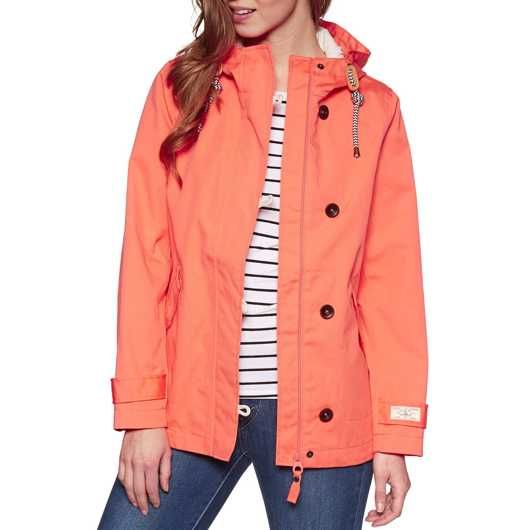 Joules, Coasted Hooded Jacket, Burnt Coral, 4