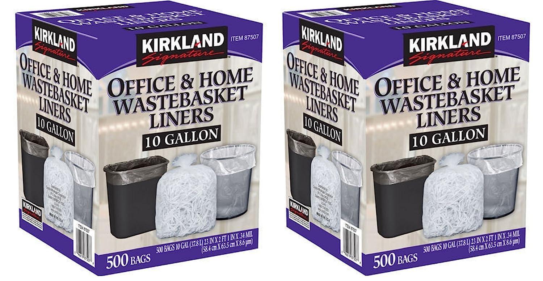 Amazon.com: Kirkland SignatureSignature 10 Gallon Clear Wastebasket ...