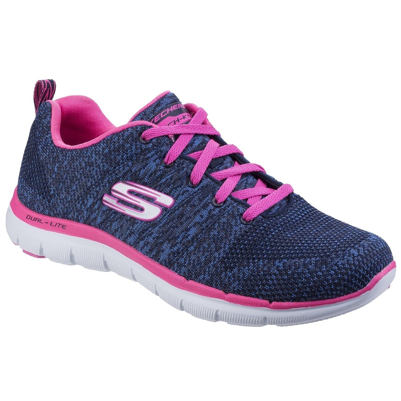 Skechers Flex Appeal 2.0 High Energy - Zapatillas Mujer 37 EU|Marino/Rosa