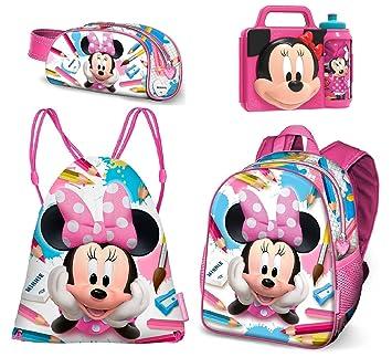 1007e8ab1e Minnie Disney SCHOOL Zainetto Zaino,Sacca Sport,Astuccio,Porta Merenda Scuola  Asilo Tempo Libero: Amazon.it: Giochi e giocattoli