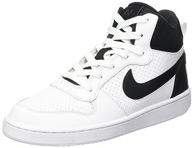 NIKE Unisex-Kinder Court Borough Mid (GS) Basketballschuhe, Weiß (White  Black 5b124bfa73