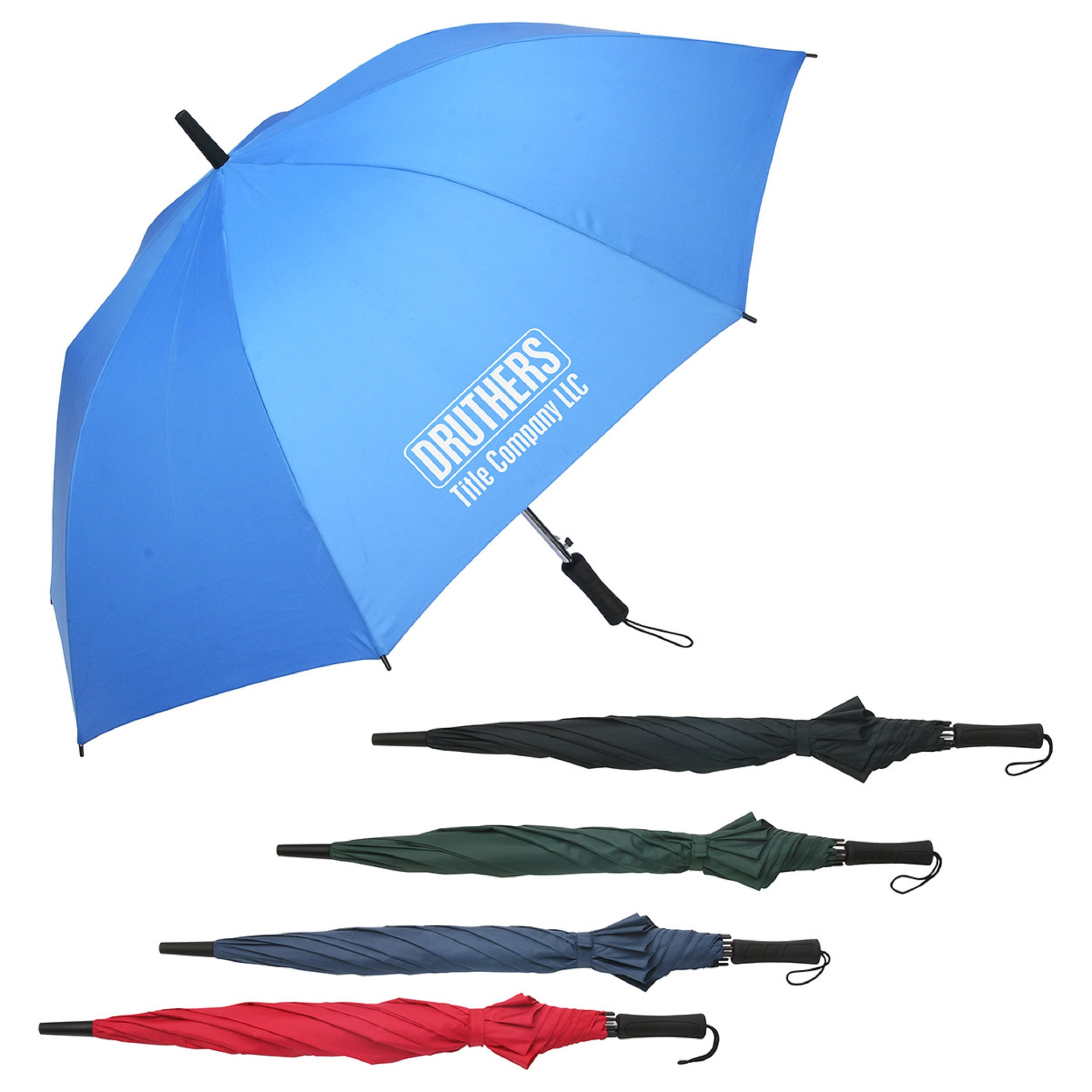 30 Personalized Lockwood Auto Open Golf Umbrella Printed With Your Logo Or Message