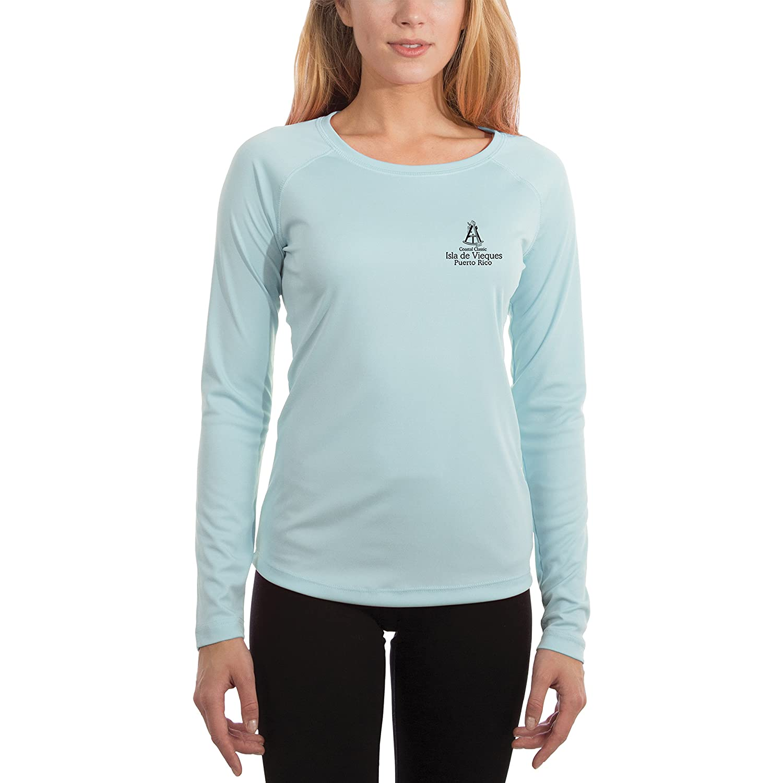 UV//Sun Protection Long Sleeve T-Shirt Puerto Rico Nautical Chart Men/'s UPF 50