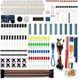 REXQualis Electronics Component Fun Kit w/Power Supply Module, Jumper Wire, 830 tie-points Breadboard, Precision Potentiometer,Resistor for Arduino, Raspberry Pi, STM32