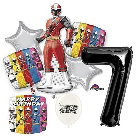 Amazon.com: Black Number 7th Birthday Power Rangers Ninja ...