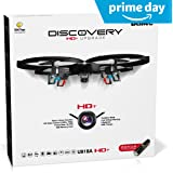 "Force1 Drones with Camera – ""UDI U818A Discovery"" Camera Drone with 720p HD RC Quadcopter Drone Camera w/ Micro SD Card + Power Bank and Bonus Battery"