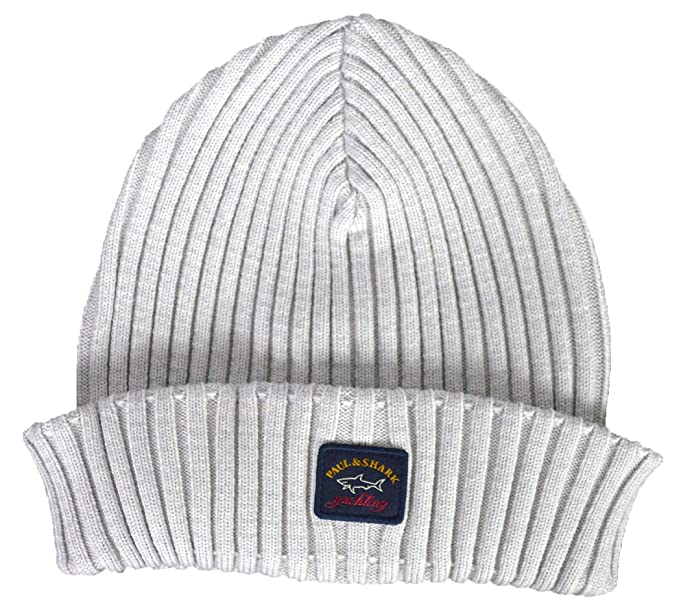 Paul   Shark Wool Beanie Hat - Grey (455)  Amazon.co.uk  Clothing e0a1e5a6e73