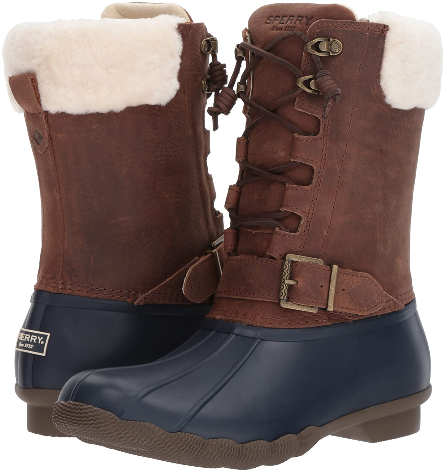 Sperry Top-Sider Women's Saltwater Misty Thinsulate Rain Boot B01N5HIXLY 11 B(M) US Navy/Brown