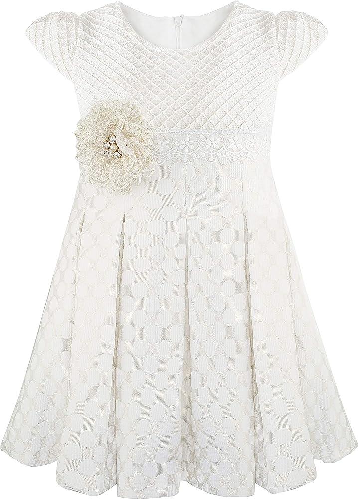 Amazon.com: Lilax - Vestido de princesa con lunares para ...