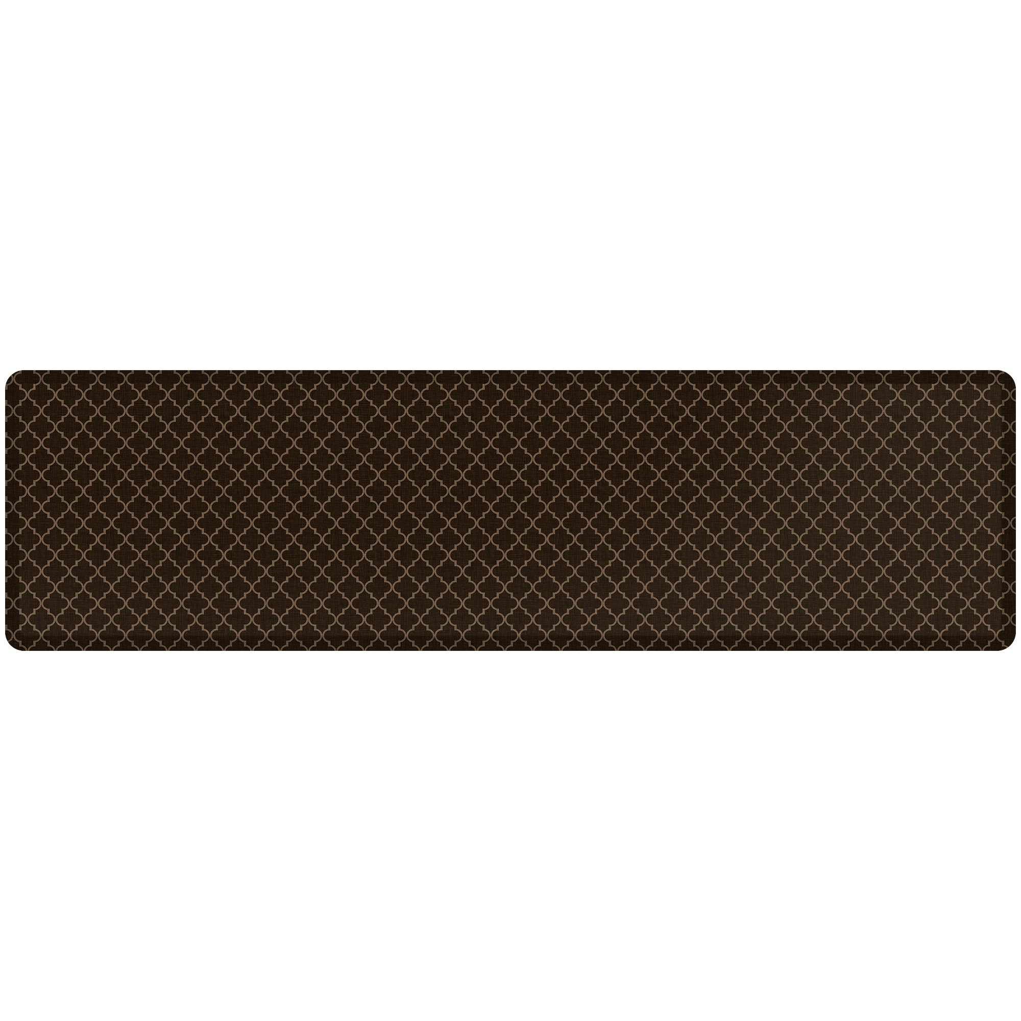 """NewLife by GelPro Anti-Fatigue Designer Comfort Kitchen Floor Mat, 30x108"""", Lattice Java Stain Resistant Surface with 3/4"""" Thick Ergo-foam Core for Health and Wellness"""