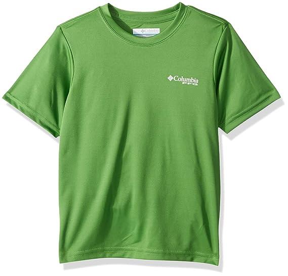 da39dbe1121 Columbia Boys PFG Offshore Short Sleeve Shirt, Clean Green Graphic Compass,  X-Small