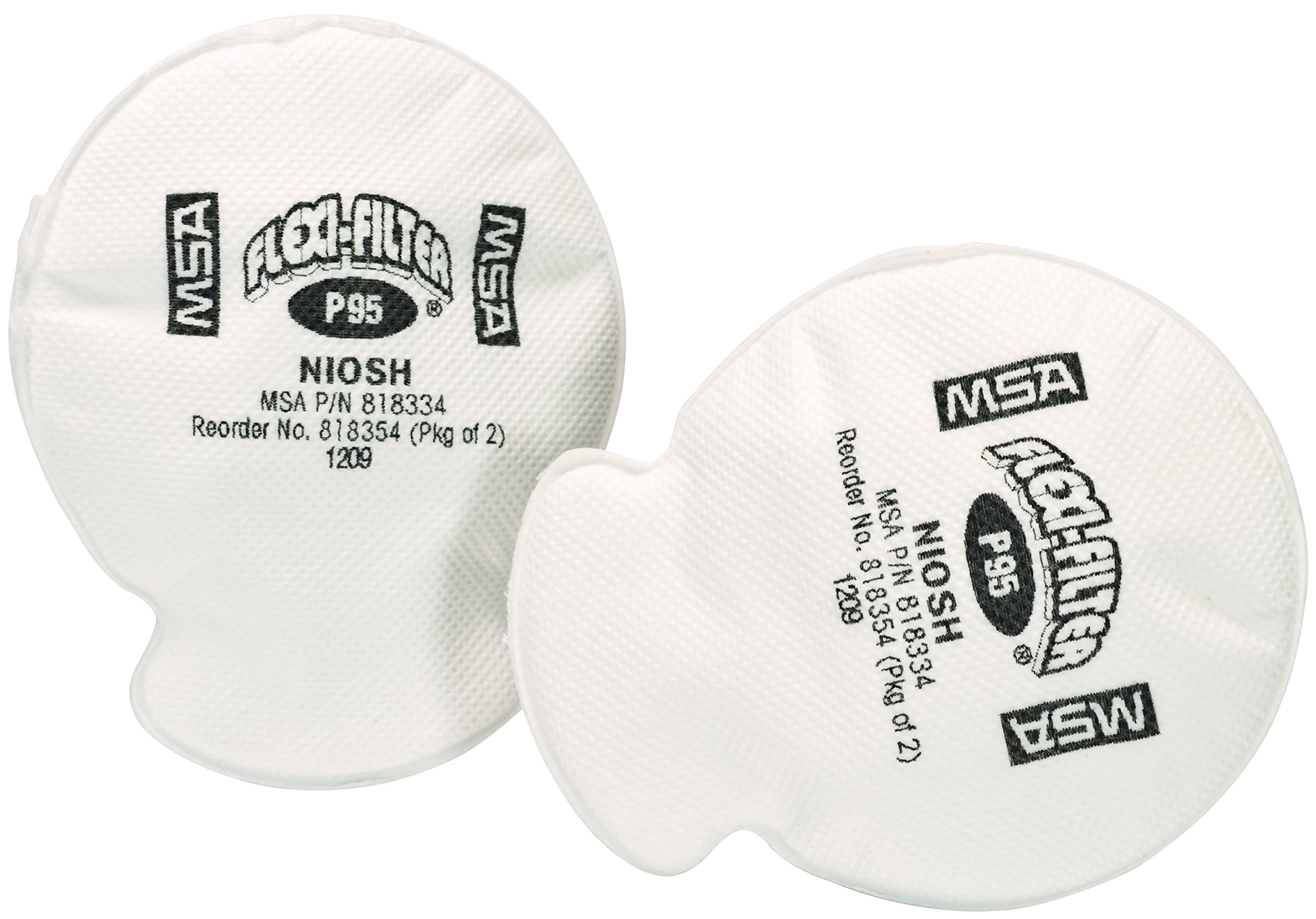 MSA 818354 Flexi-Filter Pad for Advantage Respirators, P95 Filter Type (Pack of 2)