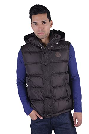 37ef4f83d Gucci Men's Brown Hooded Down Vest Sleeveless Parka US M IT 50: Amazon.ca:  Sports & Outdoors