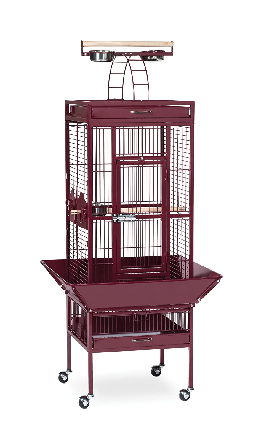 Garnet Red Prevue Hendryx Pet Products Wrought Iron Select Bird Cage, Garnet Red