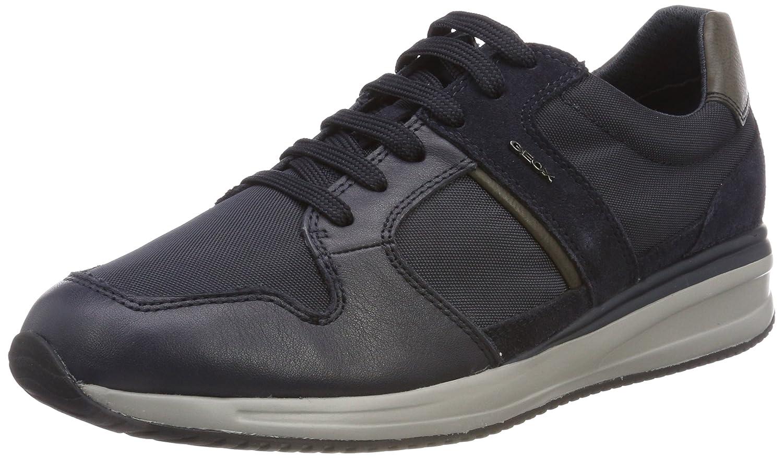 Geox U Dennie A, Sneakers Basses Homme, Bleu (Navy), 42 EU
