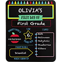 Pearhead First and Last Day of School Reversible Chalkboard, Reusable Photo Sharing Prop with Chalk, Celebrating The…