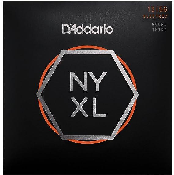 Cuerdas para Guitarra Eléctrica DAddario NYXL1356W Nickel Wound, 3ra cuerda Medium Wound, 13-56: Amazon.es: Instrumentos musicales