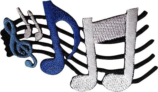Guitarra el/éctrica de s/ímbolo bordado insignia Sign Sew a presi/ón hierro bordado parche para ropa-a presi/ón