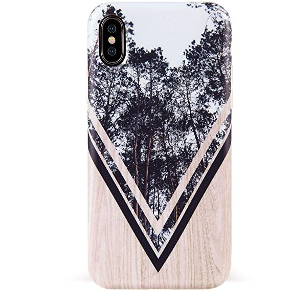 b80aafdbf663d DICHEER iPhone Xs Max Case,Cute Wood and Forest Design for Men Women  Girls,Clear Bumper Glossy TPU Silicon Rubber Soft Cover Anti-Scratch  Protective ...