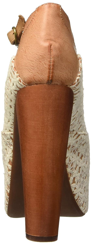 Jeffrey Campbell Damen Foxy Crochet Absatzschuhe mit Beige Offener Zehe Beige mit 24a0cb