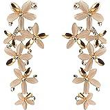 Zephyrr Fashion Black Stones Pierced Dangle & Drop Earrings For Women and Girls