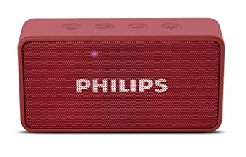 speakers bluetooth. philips bt64r portable bluetooth speakers (red) s