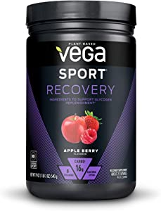 Vega Sport Recovery, Tropical, 20 Servings - Post Workout Muscle Recovery Drink Mix with Vitamins, Electrolytes, Vegan, Gluten Free (Packaging May Vary)