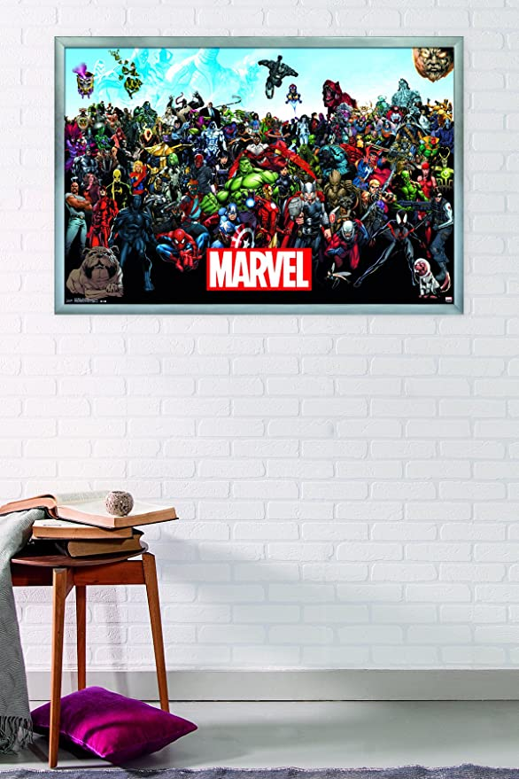 Topical Stamps Marvel Collectors Sheet Framed A Complete Range Of Specifications Stamps