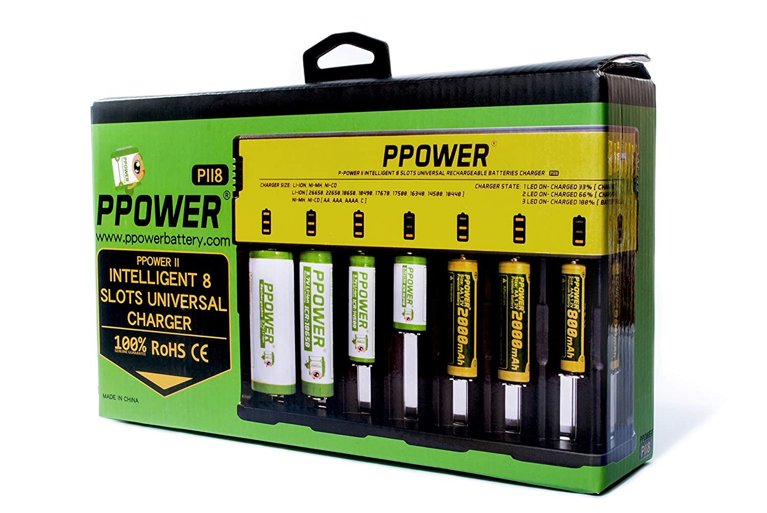 Ppower Intelligent 8 Slots Battery Charger For Li Ion Nicad By Ic Ca3140e Electronics
