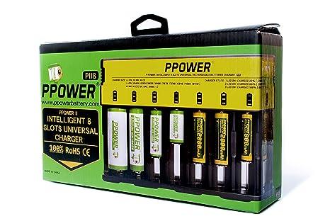 Amazon.com: ppower PBE 8 Slots Cargador de batería ...